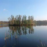 Viena no ezera peldošajām salām
