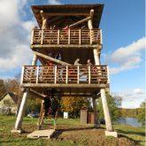 Skatu tornis Ungurpils ezera krastā